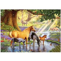 5D Horses River Diamond Painting Embroidery DIY Cross Stitch Home Decorate
